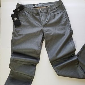 Rock & Republic Metallic Gray Berlin Skinnies